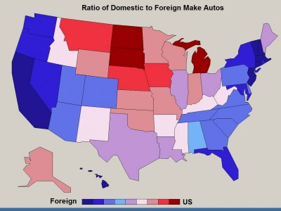 The Data Is Taken From Nhtsa Fatal Accident Base For 2016 It Not Surprising That Michigan And Other States With Or Near U S Make Factories